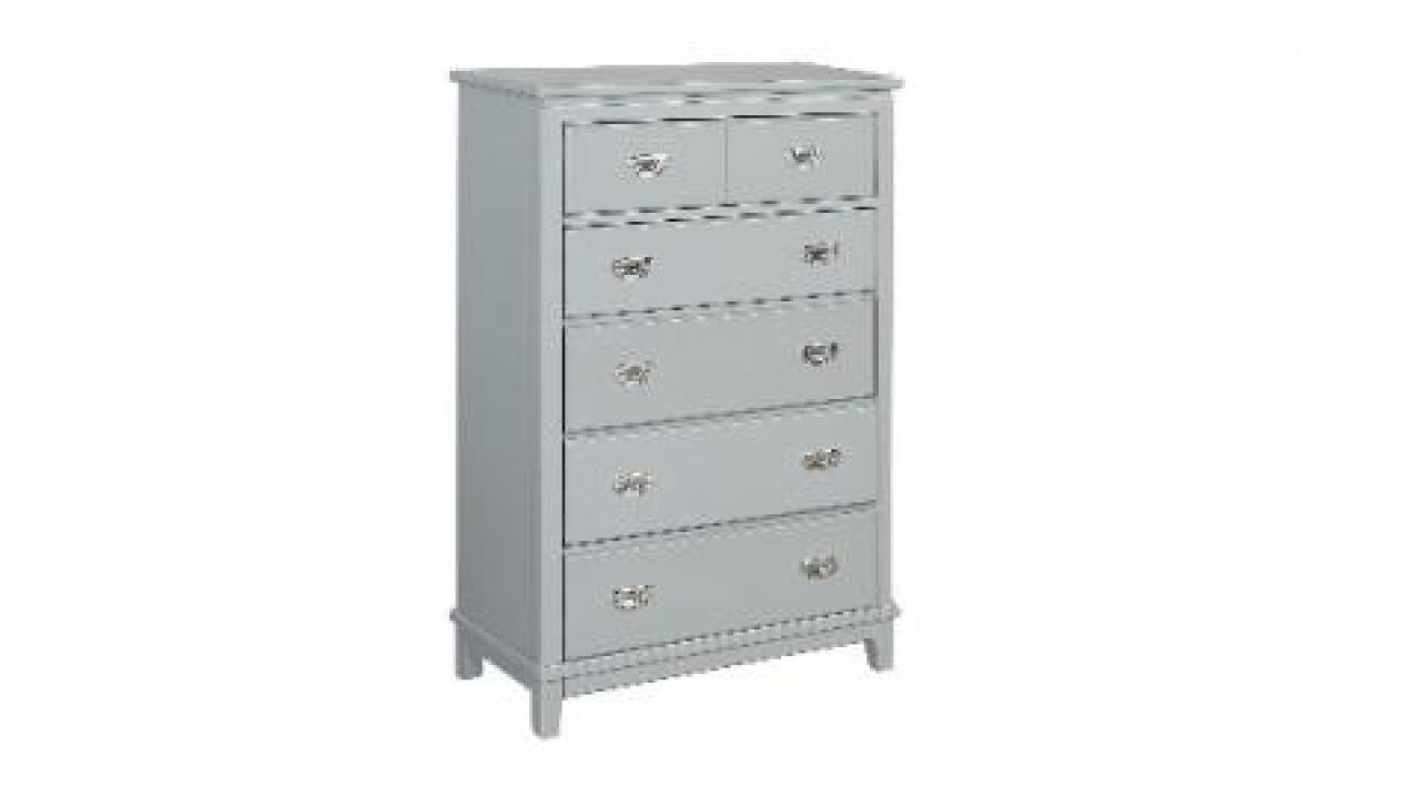 Recall issued for these chests that can tip over and trap children