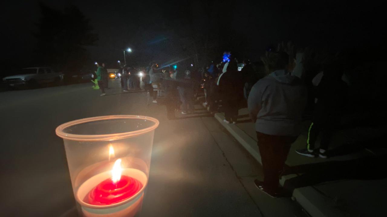 vigil for trinity brooks