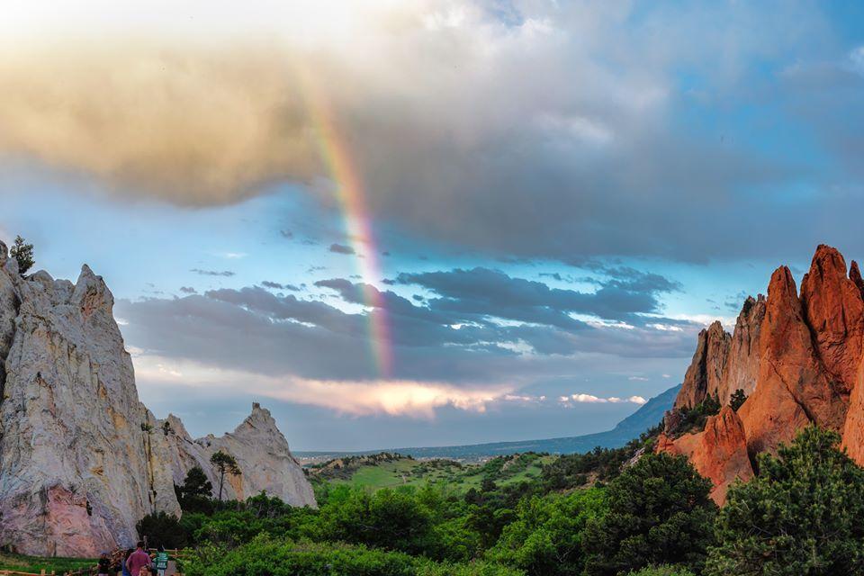 Rainbow at Garden of the Gods