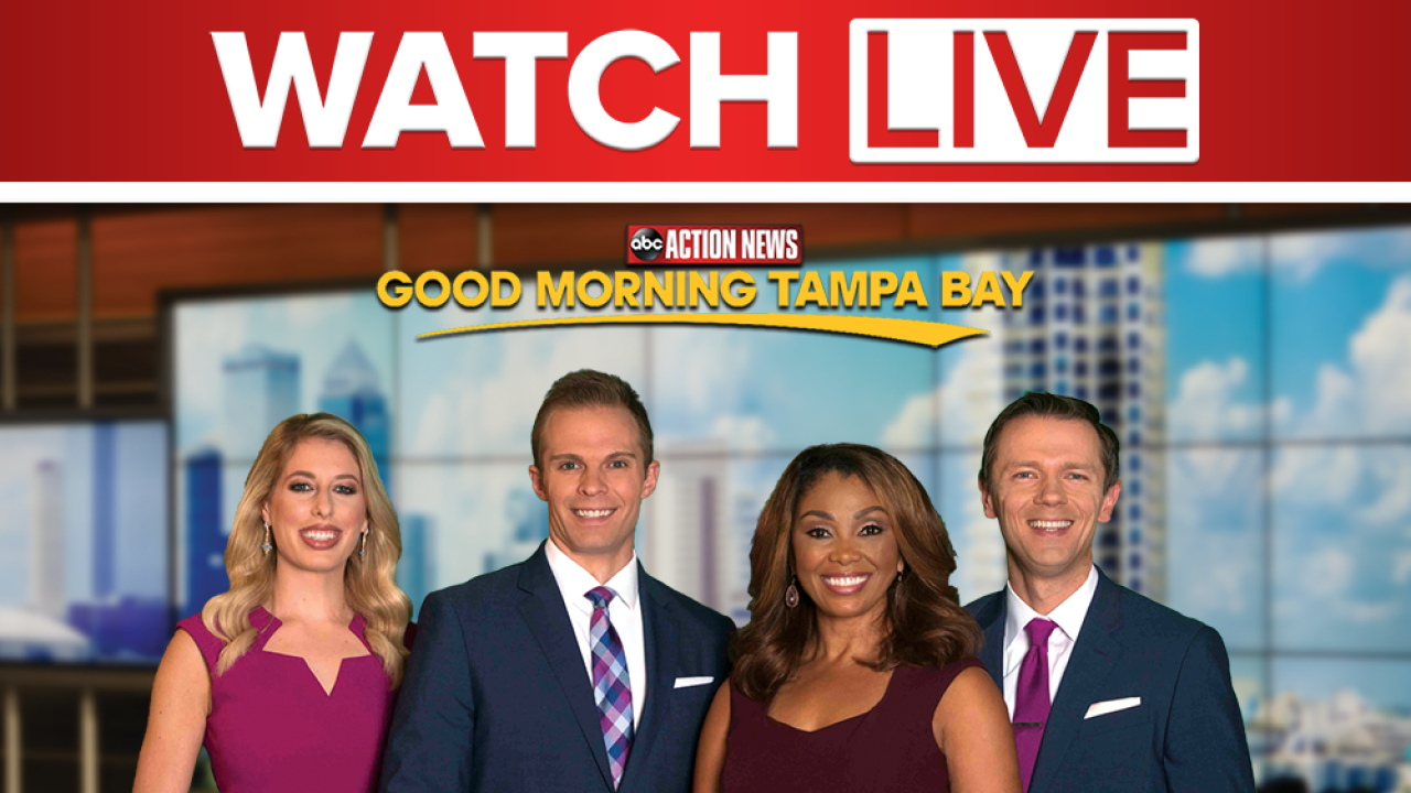 Good Morning Tampa Bay now streaming from 5 to 10 a m