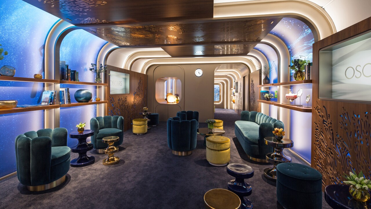 A look inside Rolex's underwater-themed green room at the 91st Academy Awards