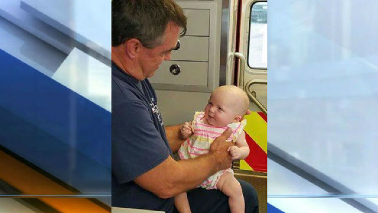 Baby girl rescued from hot car in Avon