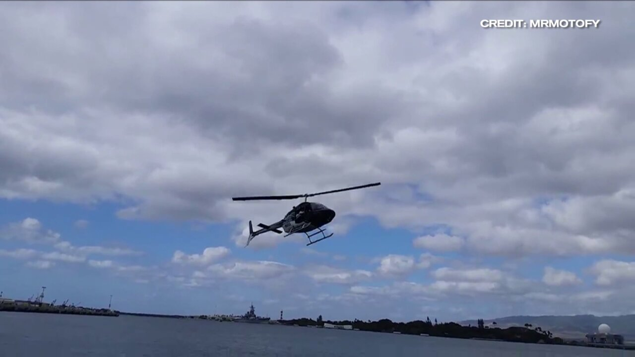 1 critically injured, 4 others hospitalized after helicopter crashes in Pearl Harbor