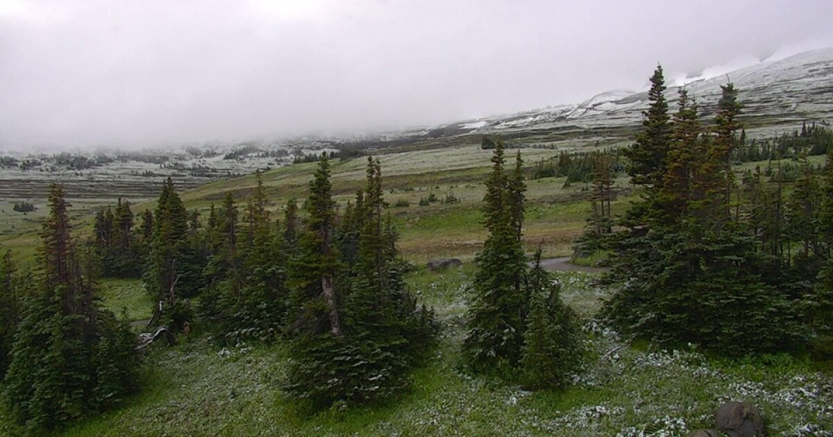 Glacier National Park sees snow in August