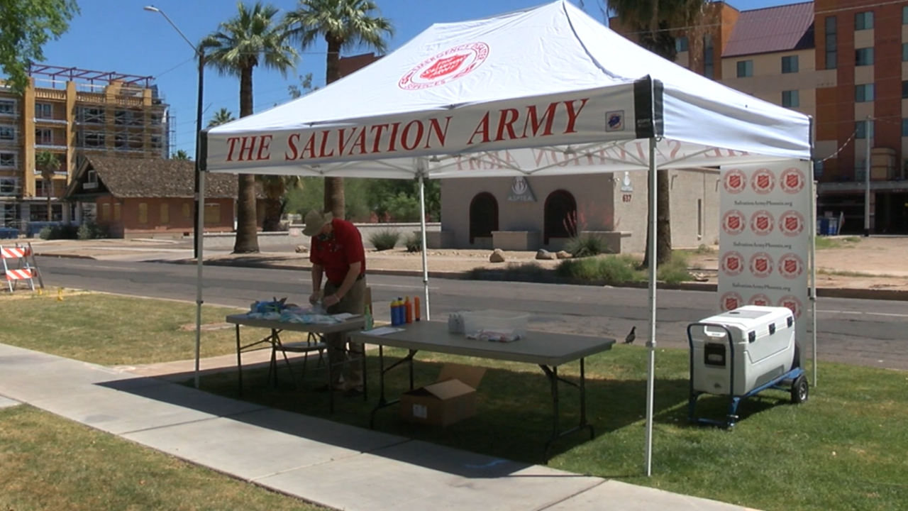 Salvation Army heat stations
