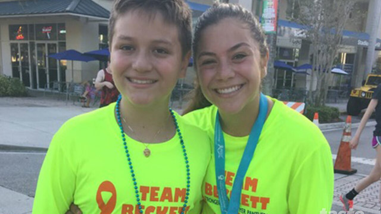 Teen plans 5K in honor of brother's battle with cancer