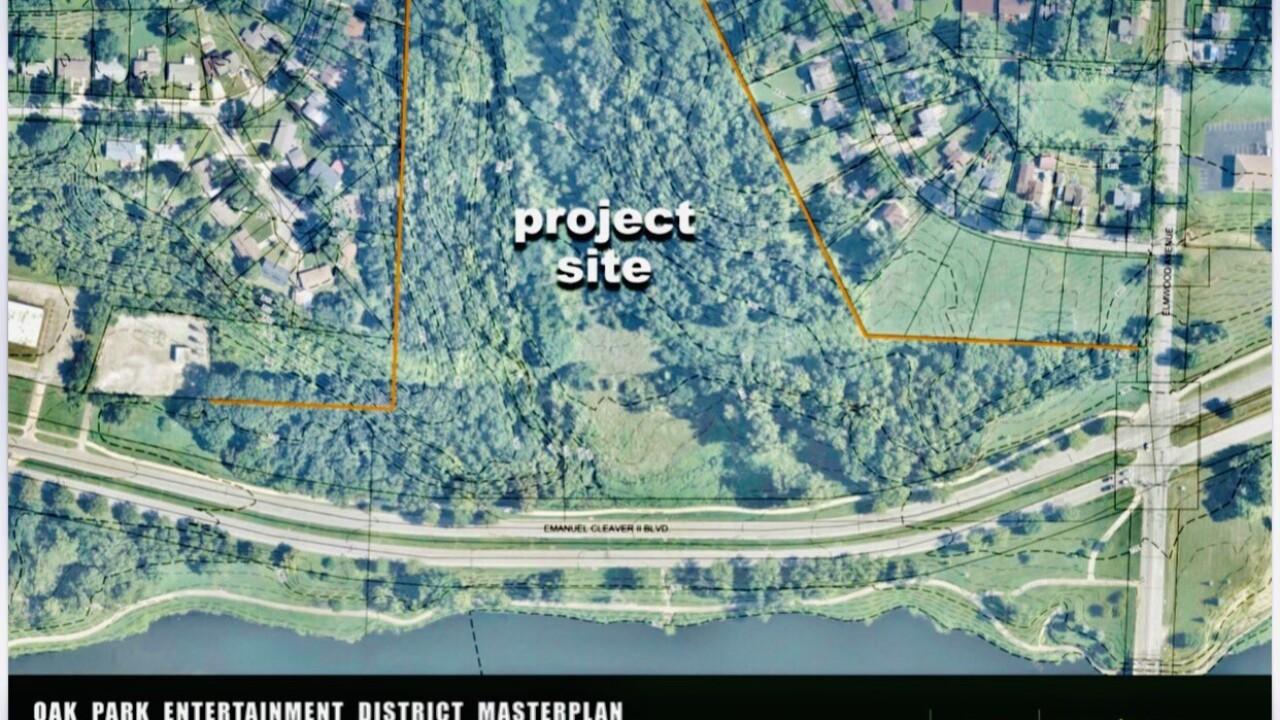 Oak Park entertainment district project site