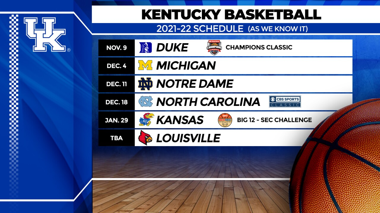UK schedule as we know it now