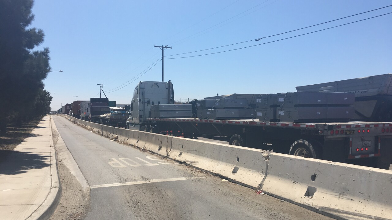 otay mesa border truck outage