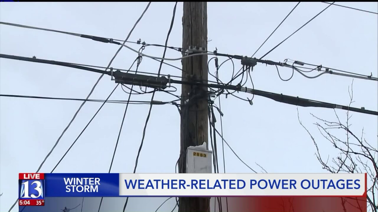 Weather conditions knockout out power for thousands in northernUtah
