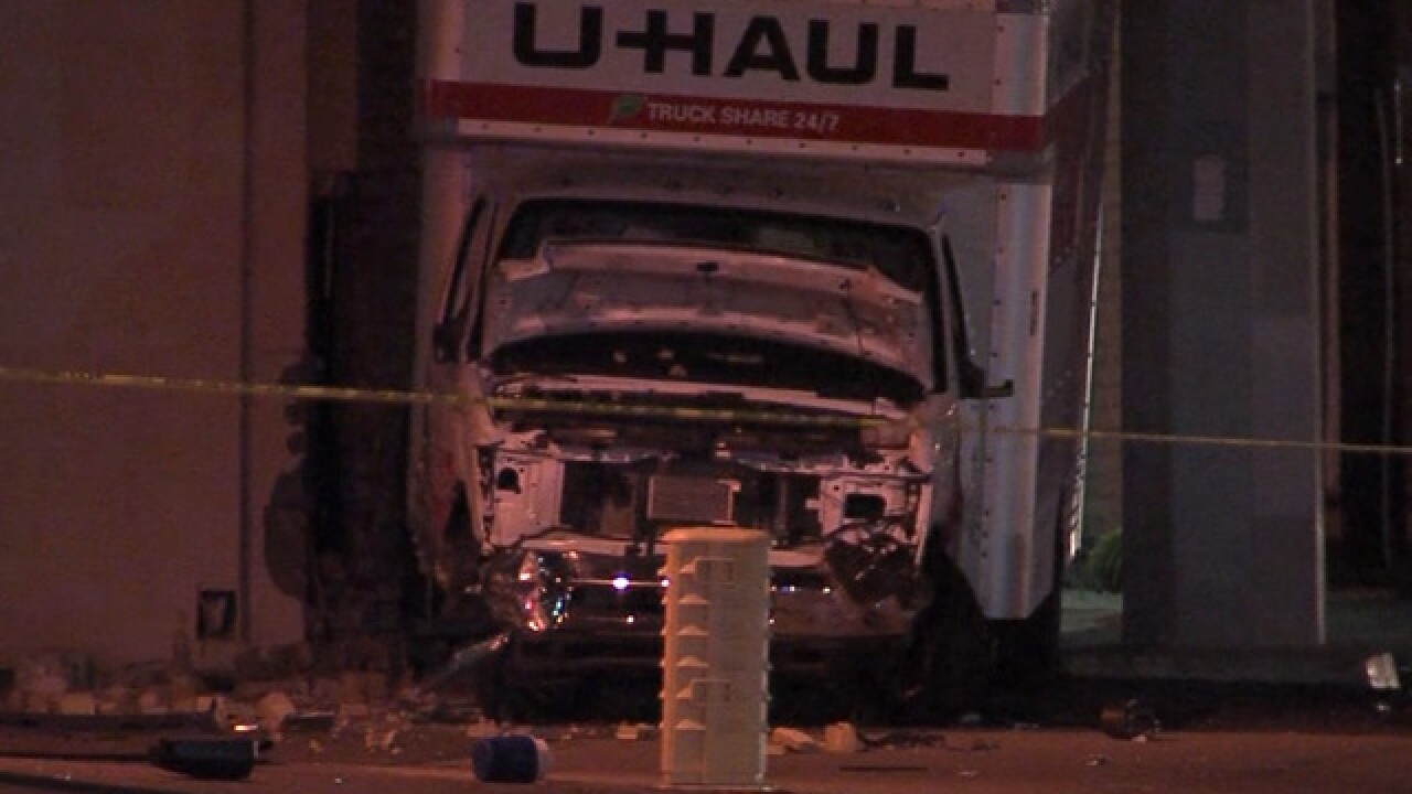Uhaul used in burglary, hits pedestrian in PHX