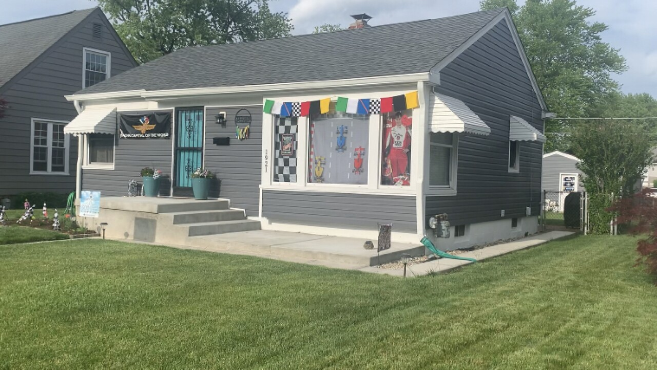 House in Speedway ready for the Indy 500