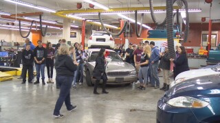 Career Center students fix car to give to Billings woman