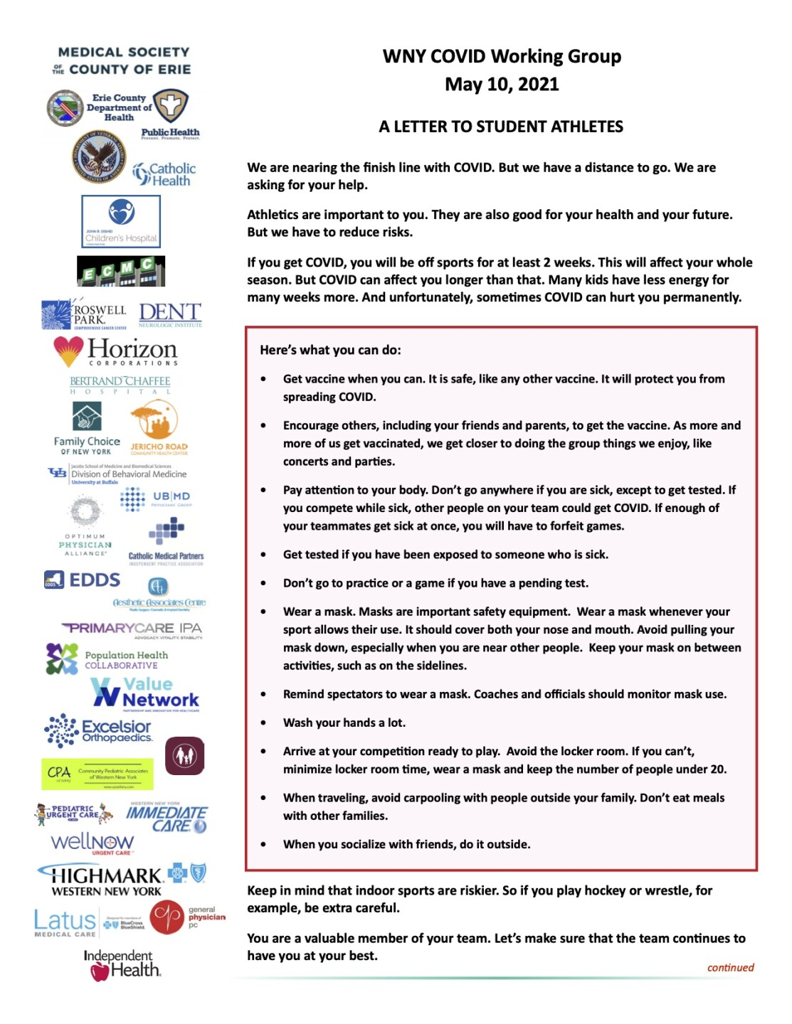 WNY COVID Working Group - A Letter to Student Athletes - 05-10-2021.jpg