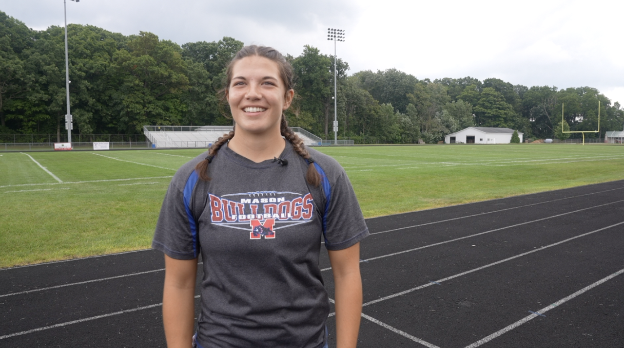 Natalia Pluff started playing football as a sophomore