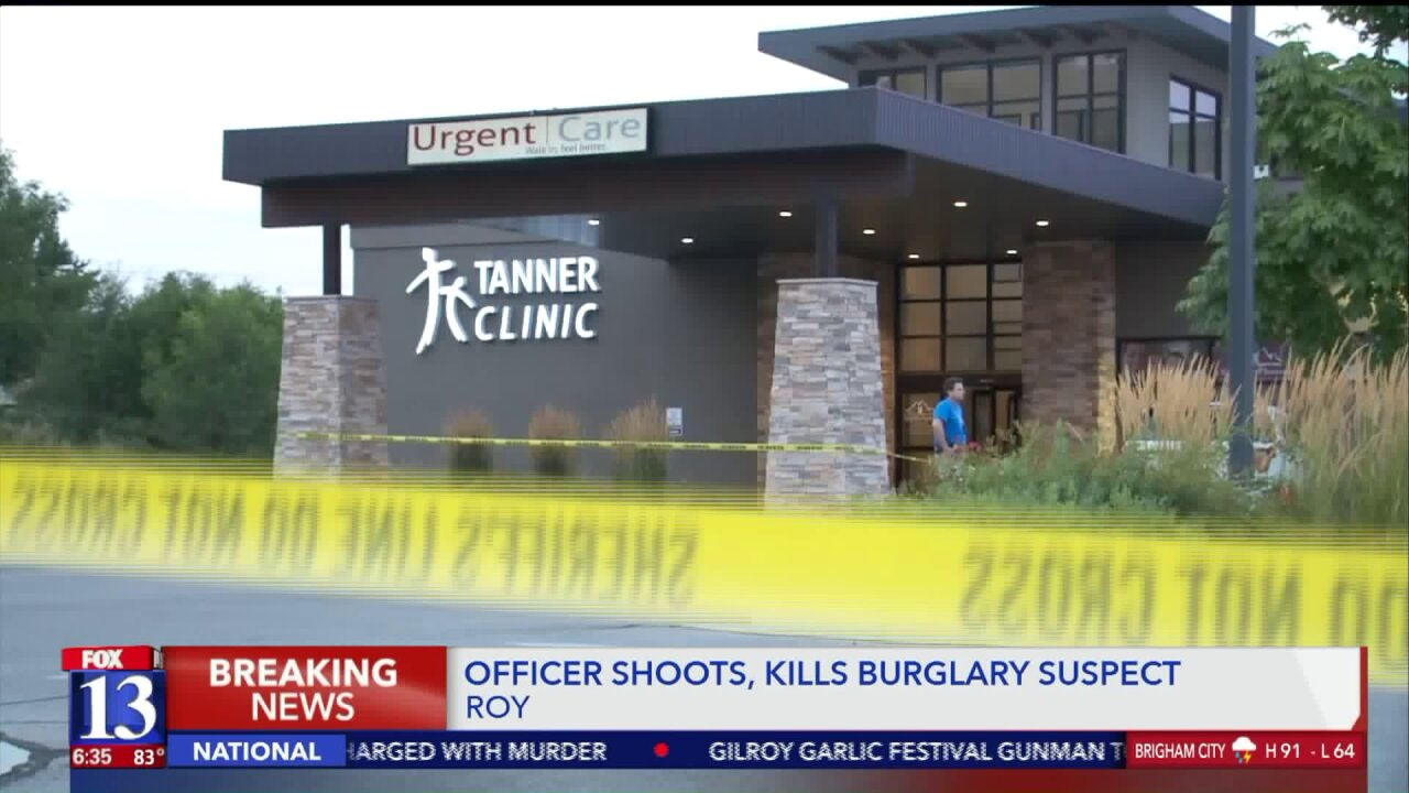 Ogden Police: Man shot, killed after attacking officers with weapon during burglary call in Roy