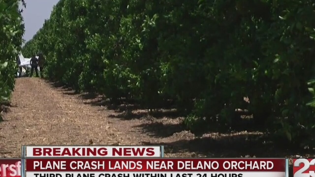 Plane goes down south of Delano