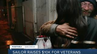 Sailor raises $10,000 for veterans