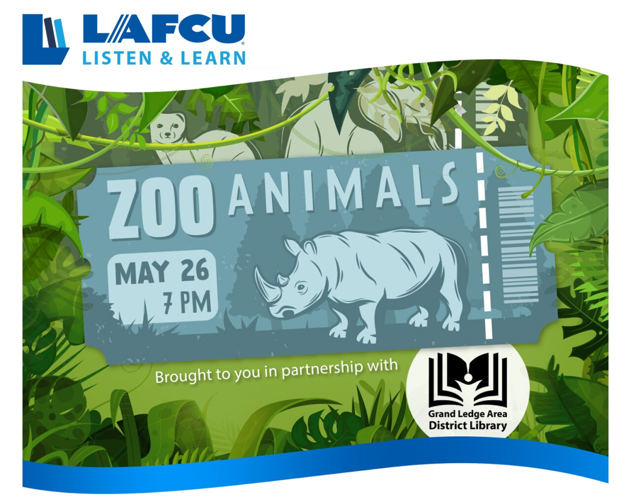 LAFCU Listen & Learn Zoo Animals