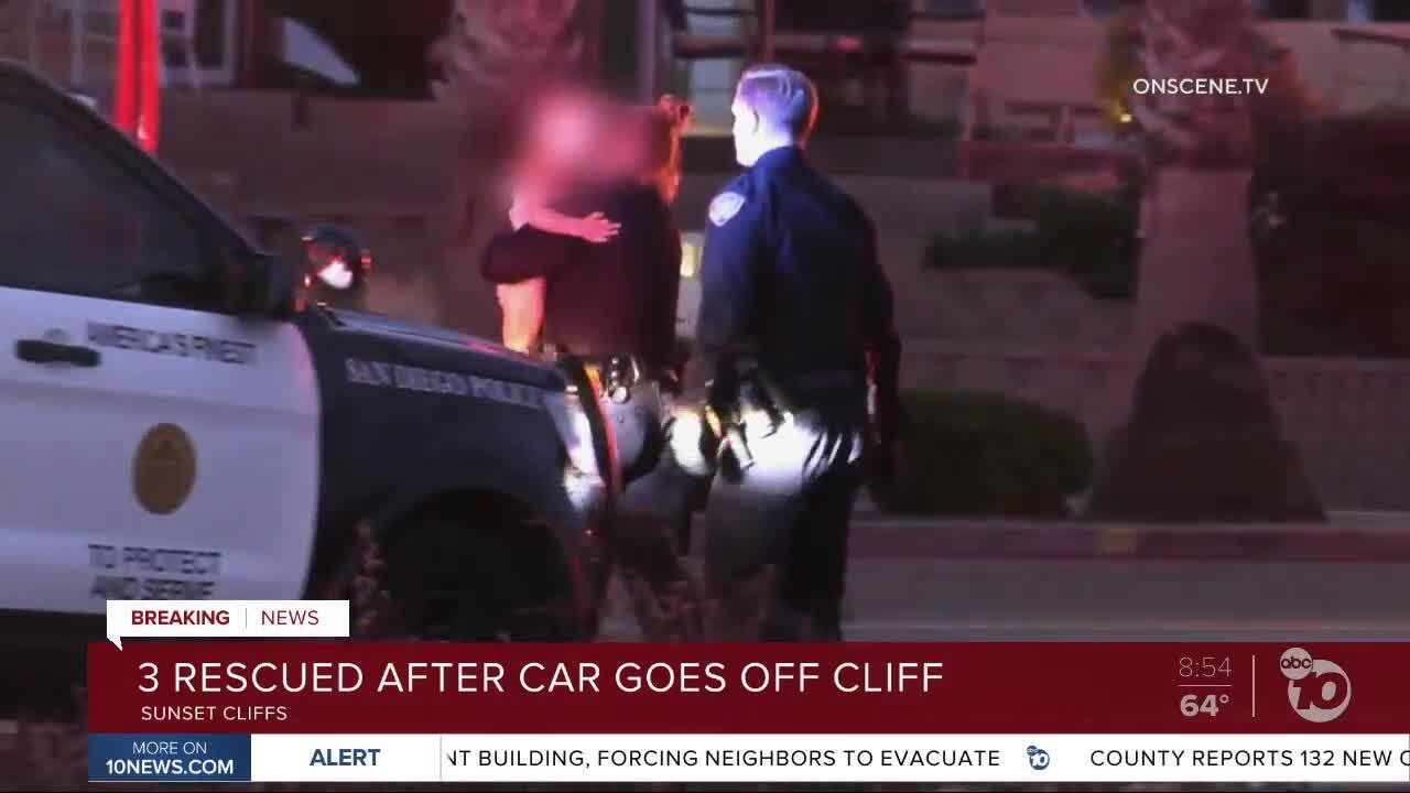 Police: Man drives off Sunset Cliffs with twin daughters in truck