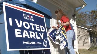 Animal lovers in Virginia repurpose political signs