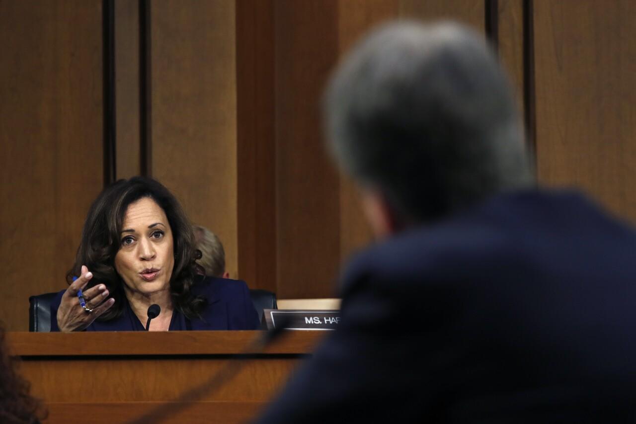 Kamala Harris questions Brett Kavanaugh in 2018 confirmation hearing