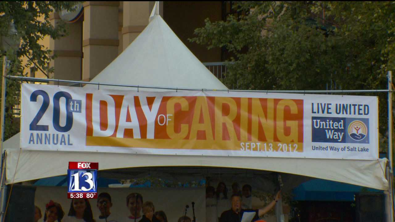 Mass donated service projects completed for 'Day of Caring'