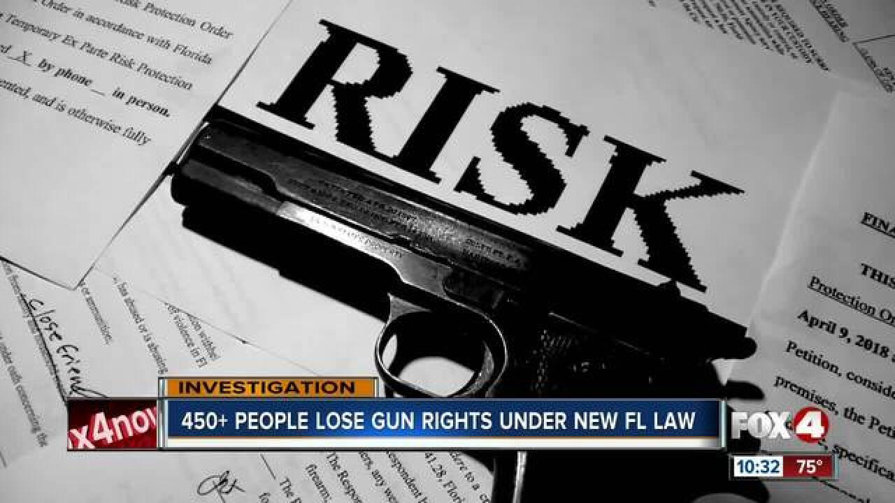450+ people lose gun rights under new state law
