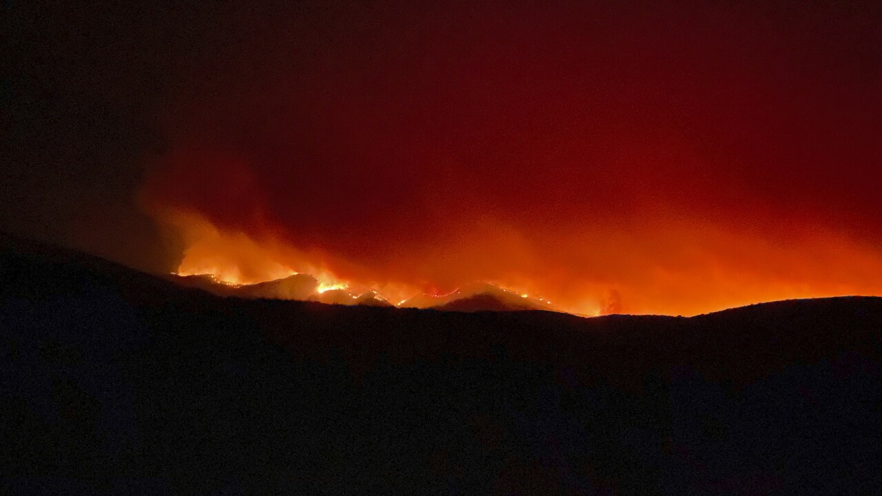 Firefighters have gained a toehold on a massive wildfire in Arizona, one of several burning across the Southwest in states facing dry heat and drought conditions. AP photo.