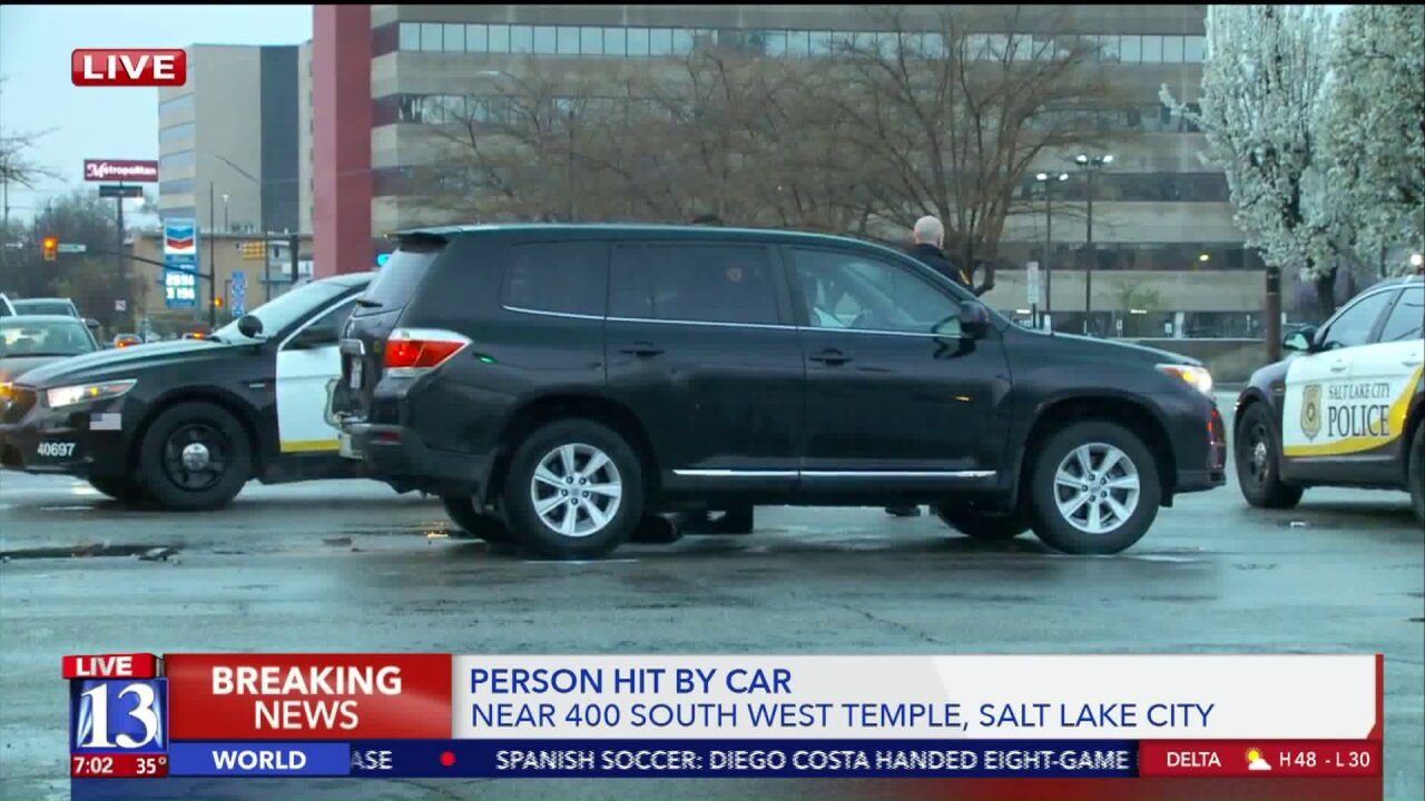 Person hit, critically injured by car in Salt Lake City; NB West Temple closed at 400South