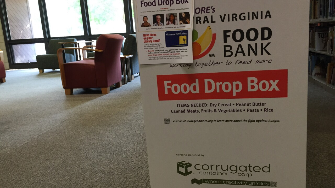 Eliminate your Richmond Public Library late fees and help FeedMore too