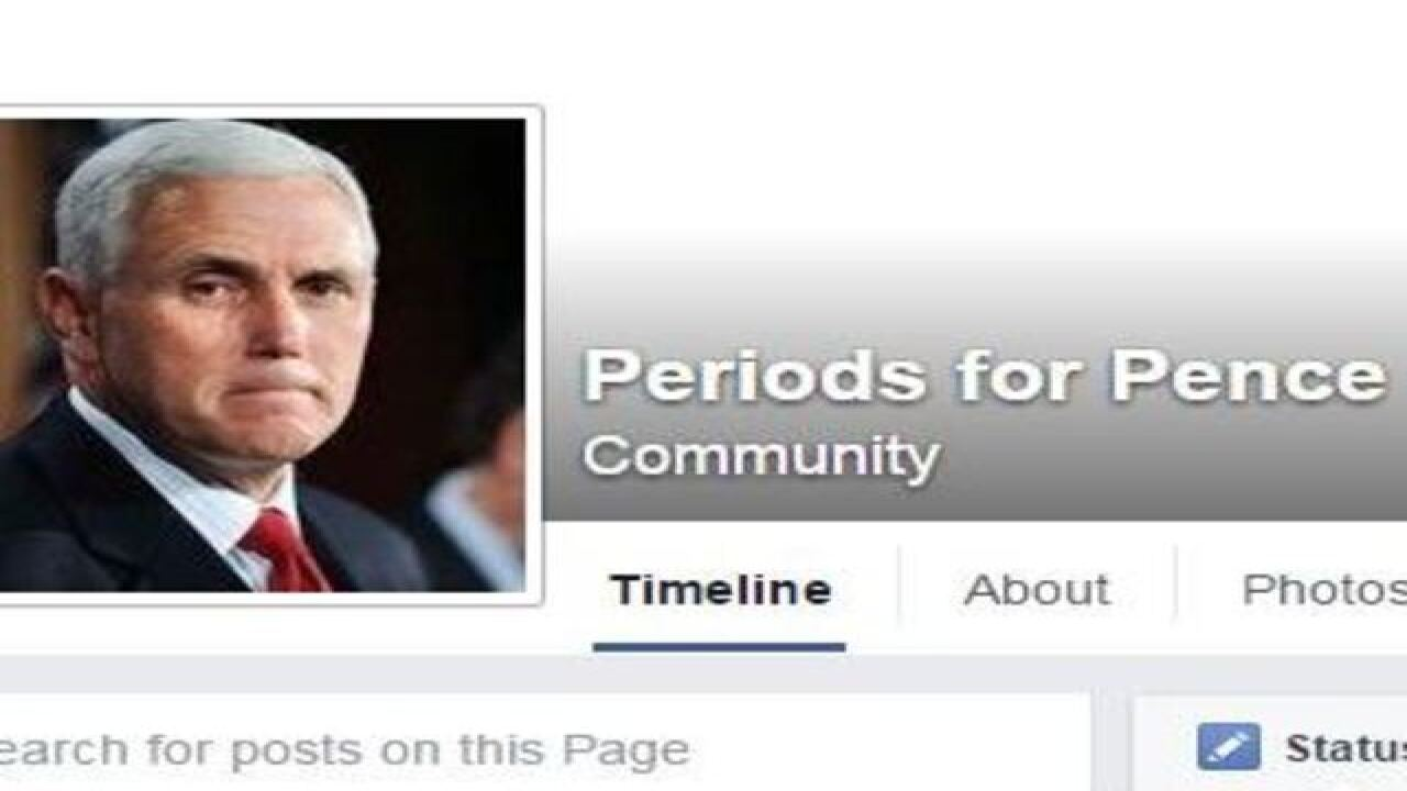 Women are calling the Indiana governor's office to tell him about their periods
