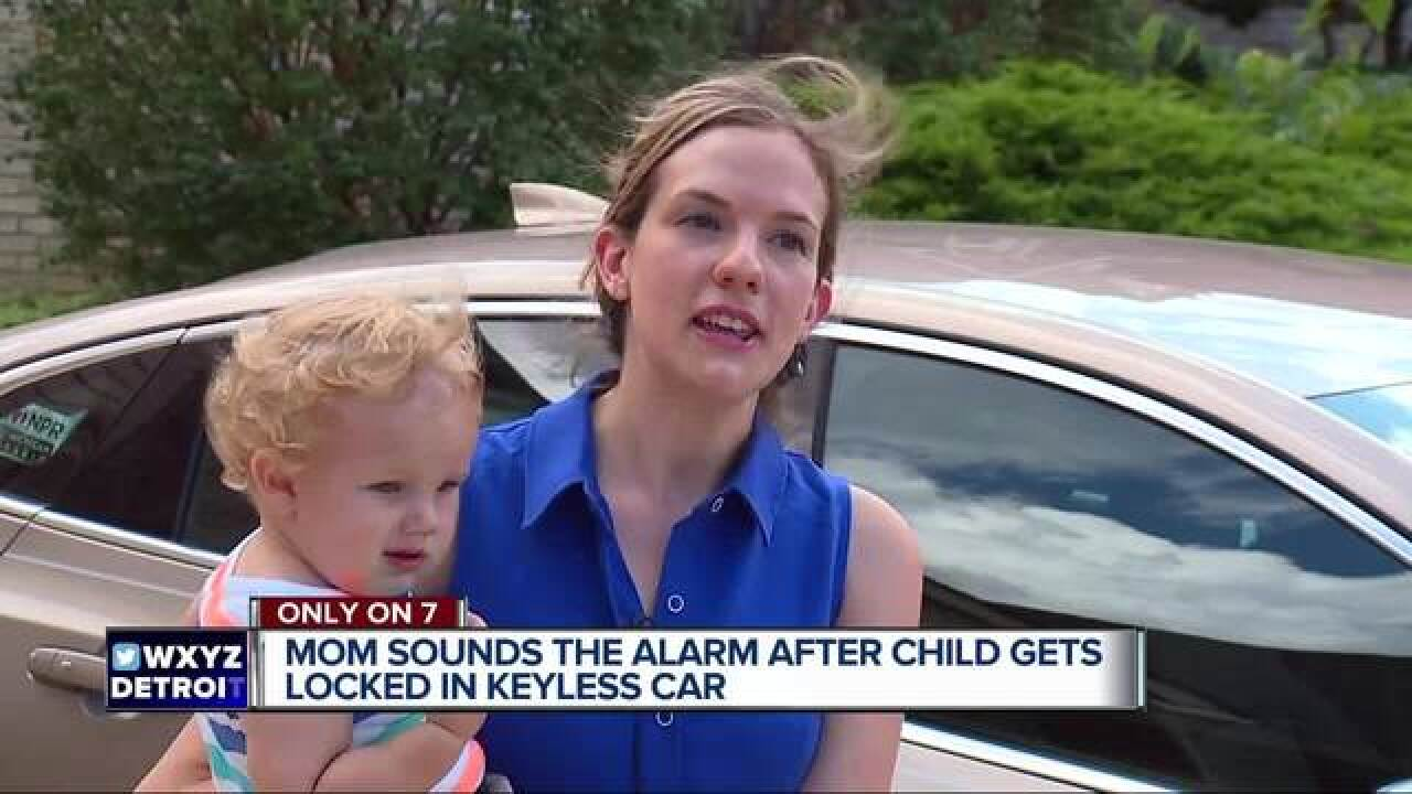 Keyless entry system locks toddler in hot car