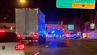 Crash I-25 and University Boulevard