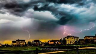 Lightning near Falcon, Colorado
