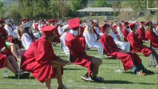 Even if COVID-19 didn't allow for traditional ceremonies, students from Cheyenne Mountain High School gathered for a social distant graduation on Friday.