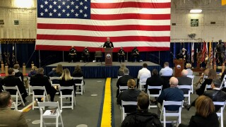 USS Gerald R. Ford change of command ceremony