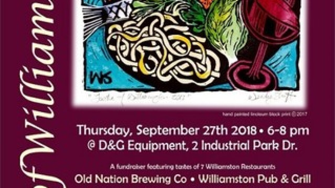 Local Charity to Benefit from Taste of Williamston- September 20th 6pm to 8pm