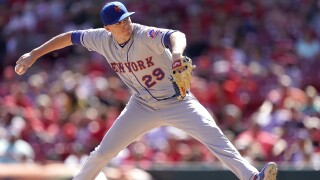 CINCINNATI, OHIO - SEPTEMBER 22: Brad Brach #29 of the New York Mets pitches in the game against the Cincinnati Reds at Great American Ball Park on September 22, 2019 in Cincinnati, Ohio. (Photo by Bryan Woolston/Getty Images)