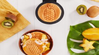 Mini Waffle Maker Stamps A Pineapple On Your Breakfast
