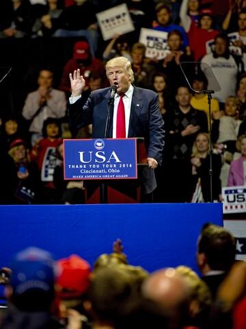 Inside Donald Trump's Cincinnati 'Thank You' tour speech