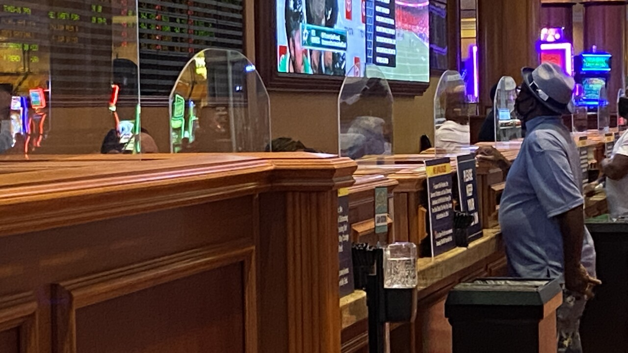Sportsbooks in Las Vegas see brisk business as the NFL returns for the 2020 season amid the COVID-19 pandemic