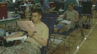 A blood drive is happening Monday morning at Fort Carson.