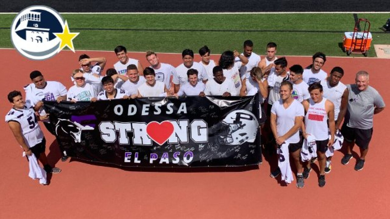 Bound by 2 mass shootings, football rivals El Paso and Odessa unite on the field