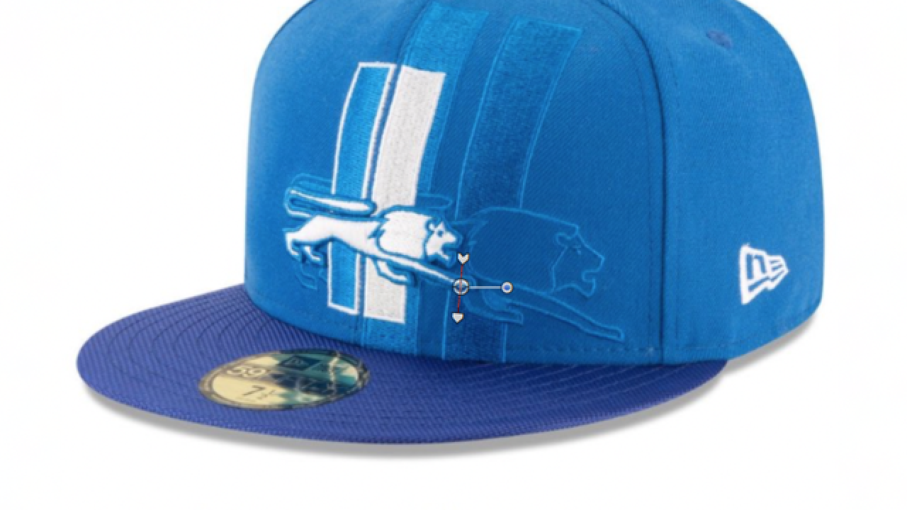 New NFL hat collection shows Lions throwback cap in official 2016 sideline  wear d0170c72ded