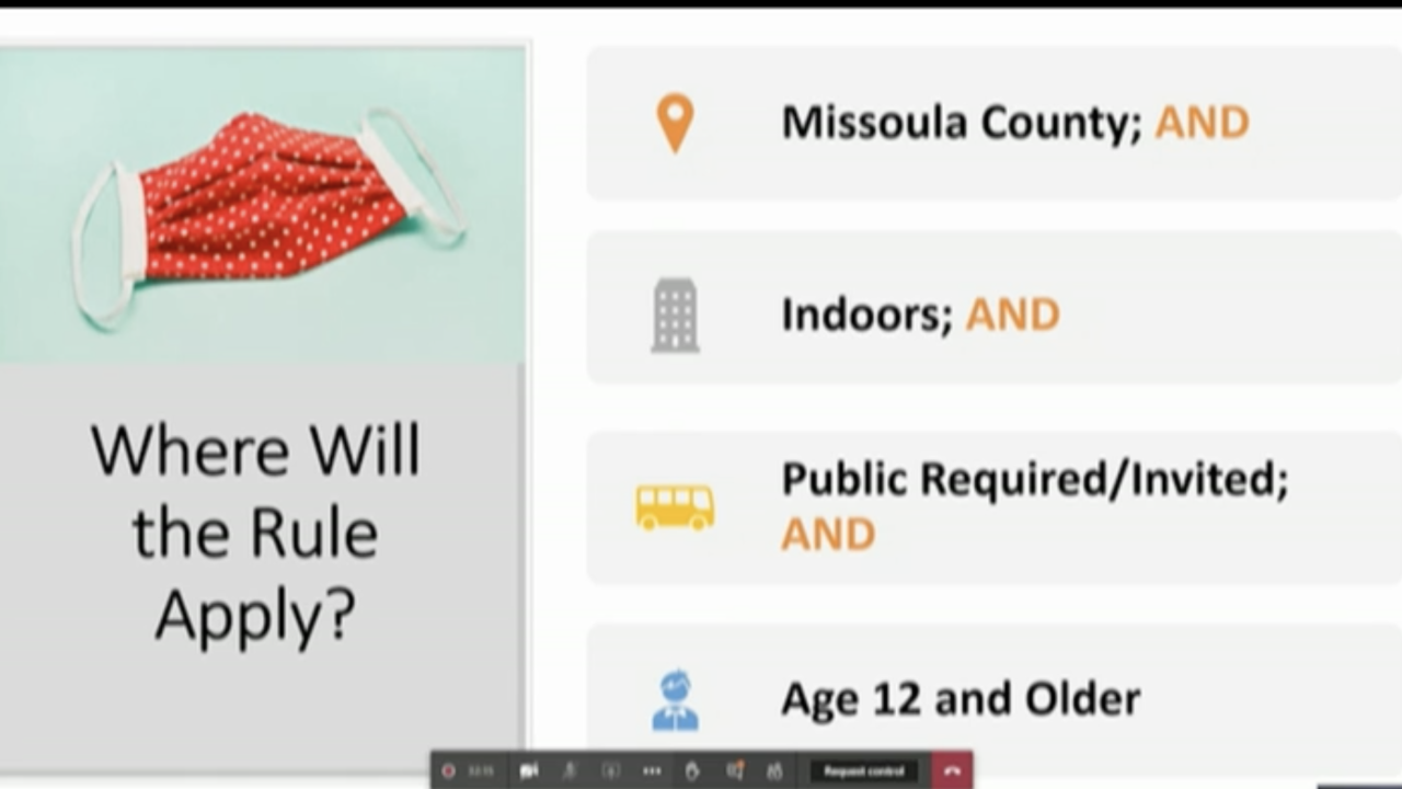 LIVE: Missoula officials discussing proposed face mask in public requirement