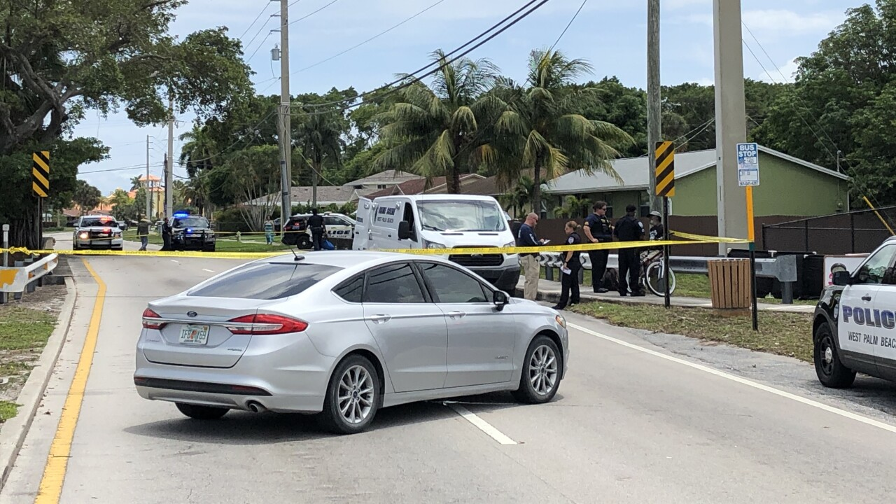 A body was found in a canal behind 42nd Street in West Palm Beach on Saturday afternoon.