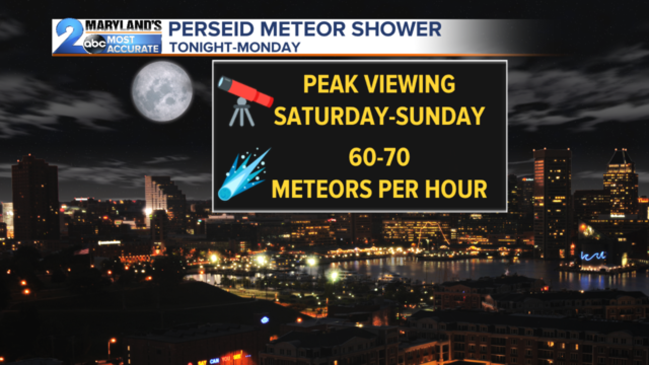 Forecast for the Perseid Meteor Shower