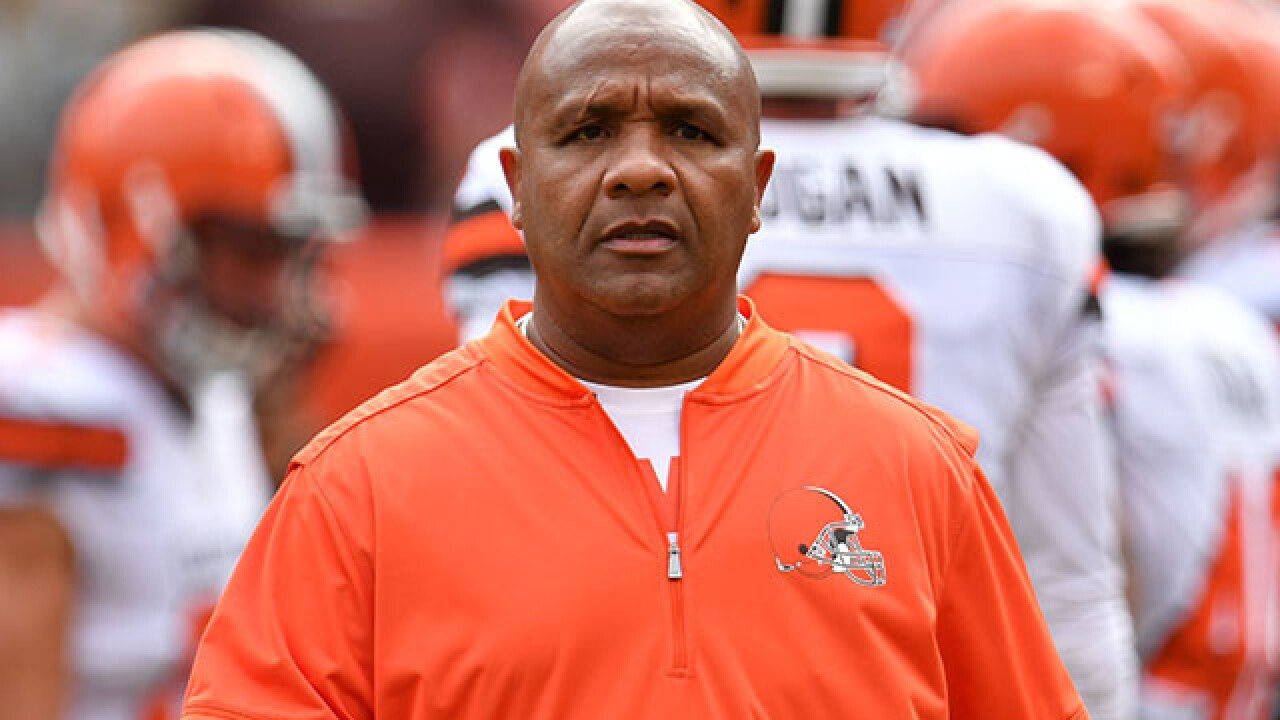 Report: Browns fire coach Hue Jackson