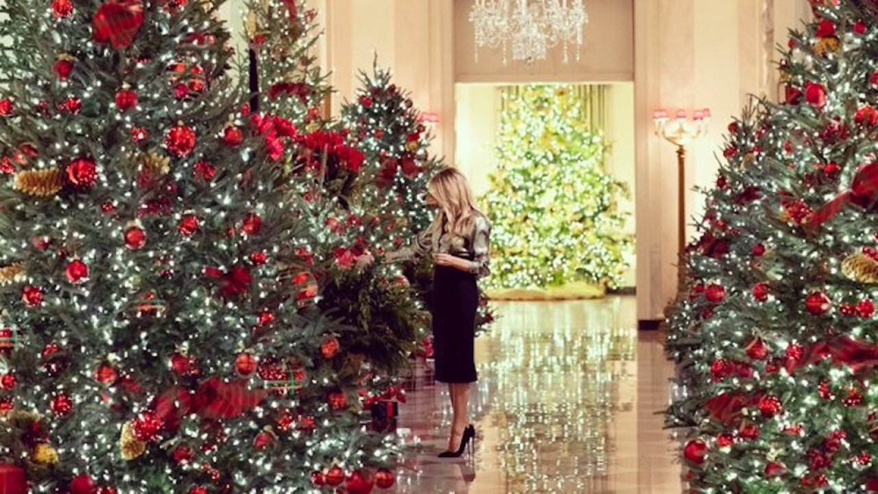 First lady Melania Trump unveils 2020 White House Christmas decorations